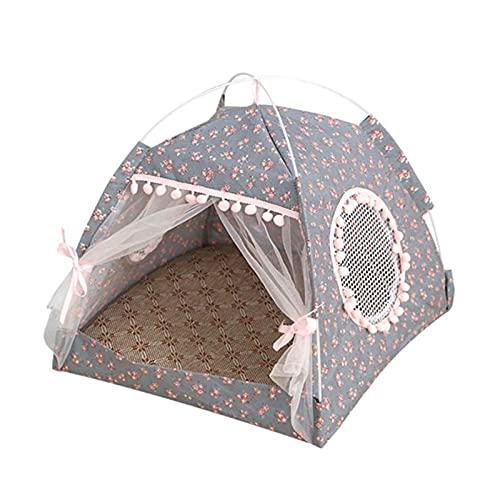 JSJJAUJ Haustierbett Haustier Zelt Tragbare Folding Haus Hund Katze Spielen Bett Matte wasserdichte Kennelbett Für kleine mittelgroße Hunde Outdoor Supplies (Color : FH, Size : XL)