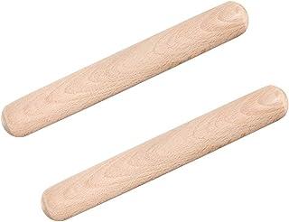 UPKOCH Lot de 2 rouleaux à pâtisserie en bois antiadhésifs 30 cm Pâte à fondant biscuit Pâte à pâtes Cookie Pizza Bricolag...