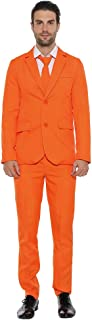 EraSpooky Mens Suits for Party Solid Color Leisure Suit Include Jacket Pants Tie