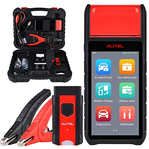 Autel MaxiBAS BT608 Car Battery Tester with Adaptive Conductance, Automotive 100-3000 CCA Battery Load Tester Cranking Charging System Test Scan Tool with BMS, All Systems Diagnosis, Built-In Printer