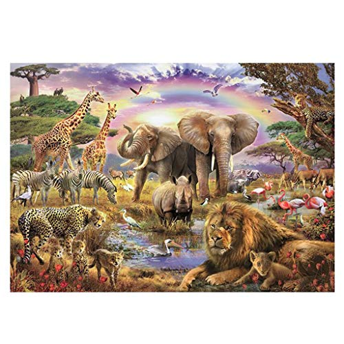 DALL 1000 Pieces Puzzle Wooden Jigsaw Animal Kids Intellectual Education Decompression Toys Family Entertainment 75.5x50.5cm (Color : A, Size : 1000 pcs)