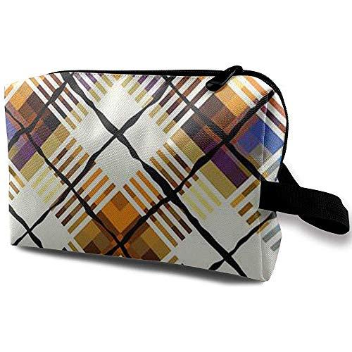 Voyage Cosmetic Bag Portable Sac À Main Carrés De Couleur Carrés Trousse De Toilette Petit Maquillage Sacs Cas Organisateur
