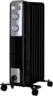 Orbegozo RN 1500 - Radiador de aceite, 7 elementos, 1500 W, luz LED, termostato regulable, recogecables, ruedas pivotantes