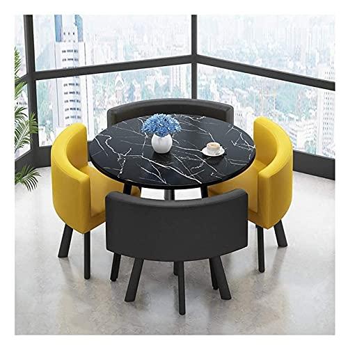PIVFEDQX Esstisch-Set für Esszimmer und Küche, Freizeit-Tisch und Stuhl-Set Büroempfang Verhandlungstisch und Stuhl...