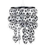 MiniSun – Moderner Lampenschirm aus Acryl mit schwarzweißem Finish für Kinderzimmer – Fußballleuchte