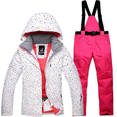 Mitef Wasserdichte, winddichte Outdoor-Schneeanzug, Jacke und Hose für Damen - - Groß
