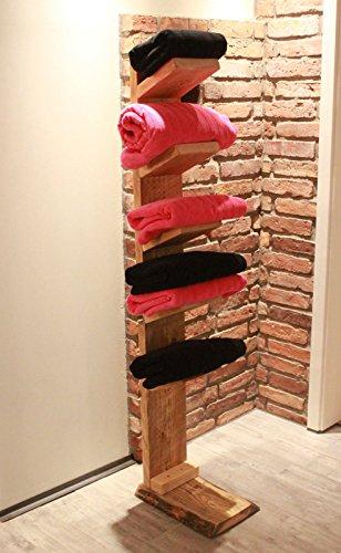 Houten handdoek ladder vrijstaand, 5 planken gemonteerd