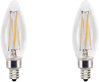 Cree 60W Equivalent Soft White (2700K) B11 Candelabra Exceptional Light Quality Dimmable E12 LED Light Bulb (2-Pack)