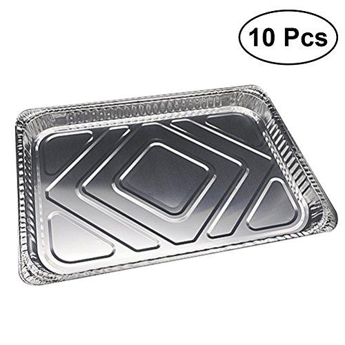 besto nzon 10pcs Film d'aluminium Poêles en Aluminium Plaque de cuisson BBQ barquettes jetables Assiettes