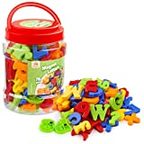 Coogam Magnetic Letters Numbers Alphabet Fridge Magnets Colorful Plastic ABC 123 Educational Toy Set Preschool Learning Spelling Counting Uppercase Lowercase Math for 3 4 5 Years Kid Toddler (78 Pcs)