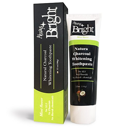 Always Bright - Activated Charcoal Teeth Whitener Toothpaste...