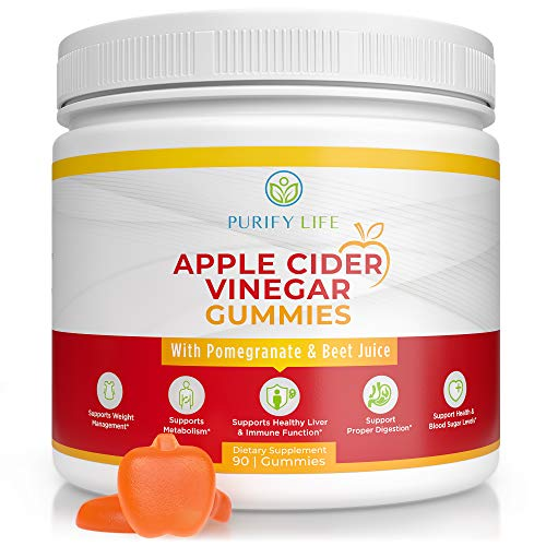 Apple Cider Vinegar Gummies - Unfiltered ACV (3 Month Supply) Weight Loss Alternative to Capsules and Pills for Belly Fat Burner - Immune System Support, Detox, Metabolism, Acid Reflux - Kids & Adults