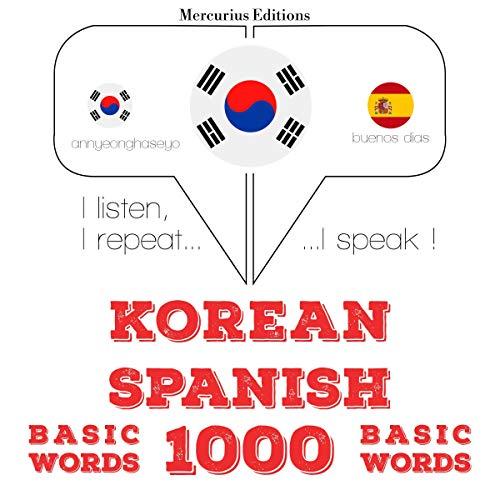 Korean – Spanish. 1000 basic words cover art