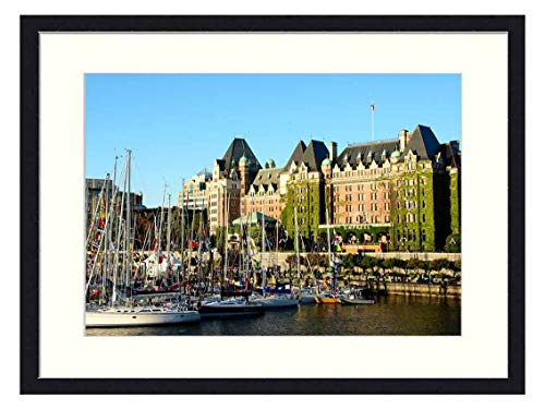OiArt Wall Art Canvas Prints Wood Framed Paintings Artworks Pictures(20x14 inch) - Victoria Bc Inner Harbor Empress Hotel Bc Victoria