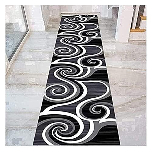 Langer Flur-Halle-Läufer schmaler Teppiche Flur-Runner-Teppich mit Anti-Rutsch-Backing, Niedrigstapeleintritt Teppich für Korridor Küchentreppen Eingang, Cuttable