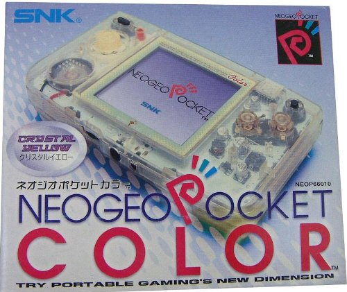 Neo Geo Pocket Crystal Yellow Handheld Console
