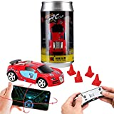Remote Control car, Gravity Sensor Control, Remote Control, Mobile Phone Control 3 Modes of RC Car, Creative Coke can Pocket Racing, 2.4G (Red)