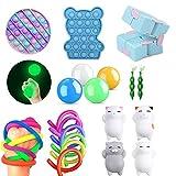 iSayhong Sensory Fidget Toys Set, alivia el estrés y la ansiedad Fidget juguete para niños adultos, juego de juguetes de cubo superior, surtido de juguetes especiales para regalos