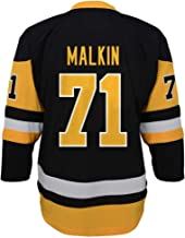Outerstuff Evgeni Malkin Pittsburgh Penguins #87 Black Yellow Youth Replica Home Jersey