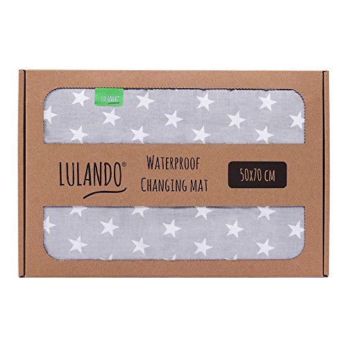 LULANDO Wasserdichte Baby Wickelunterlage Wickelmatte (50x70 cm). Praktische Wickelauflage Bettunterlage Reisematte, vielseitig einsetzbar. Mit dem Standard 100 von Öko-Tex.