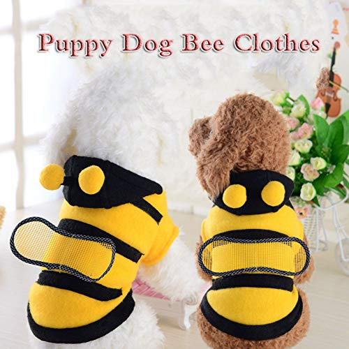FORMEG Ropa de Perro Mascotas Novedad Puppy Dog Bee Clothes Winter Warm Funny Dog Costume Cloth Soft Fleece Dog Winter Pet Party Decoración Suministros