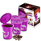 4 Refillable/Reusable Cups Compatible With Keurig 2.0 - K200, K300, K400, K500 Series and all 1.0 Brewers (4-Pack)