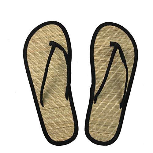 Sandalias de Dedo Flow, Flip Flop Estilo Japonés, Talla 36, con Plantilla en Tatami Goza.