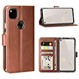 FUNMAX Google Pixel 4a Case, PU Leather Wallet Flip Cover