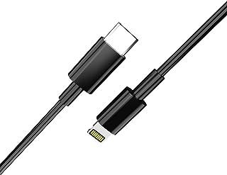 USB-C to Lightning ケーブル USB Type C ライトニング 急速充電 3A 1M iPhone 充電ケーブル ライトニングケーブル USB2.0 高速 データ転送 新しい iPhone X/XS/iPhone XS MAX/iPhone XR/iPhone 8/8 Plus/iPad/iPod などに対応 (ブラック)