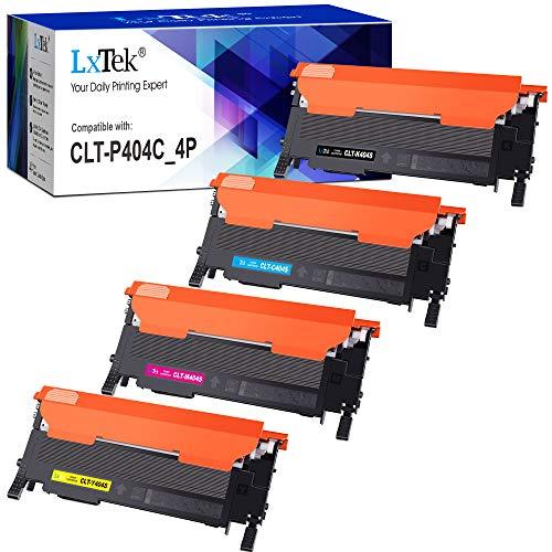 LxTek Kompatibel Toner Ersatz für Samsung 404S CLT-P404C für Xpress SL C430 C430W C480 C480W C480FN C480FW (1 Schwarz/1 Cyan/1 Magenta/1 Gelb, 4-Pack)