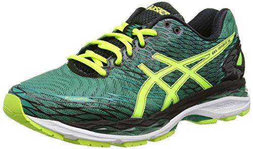 ASICS Gel-nimbus 18 - Scarpe Running Uomo, Verde (Pine/Flash Yellow/Black), 41 1/2 EU