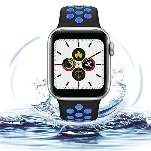 BaoZan Smartwatch, Relojes Inteligentes Impermeable IP67 para Mujer Hombre niños, Reloj de Fitness con Monitor de Frecuencia, Pantalla Inteligente de 1.5'para iOS Android Xiaomi Huawei Samsung iPhone