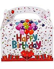 FLOFIA 30pz Scatole Regalo Compleanno Scatoline Portaconfetti in Carta Bomboniere Scatole Happy Birthday per Regalini Confetti Caramelle Cioccolati Compleanno