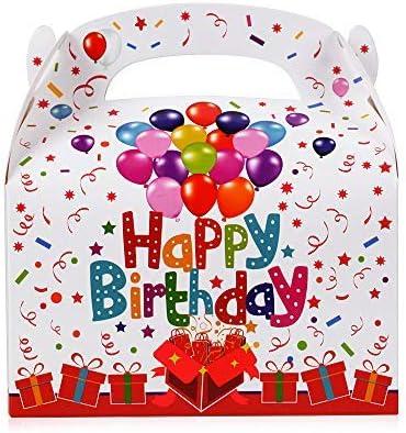 FLOFIA 30PCS Cajas Cumpleaños de Regalo Bolsas Regalo Infantil Niños de Cartón con Estampado de Happy Birthday para Envoltura Regalos Cumpleaños Caramelo Chocolate Galleta Chuches (12,5*7,5*13,5cm): Amazon.es: Hogar