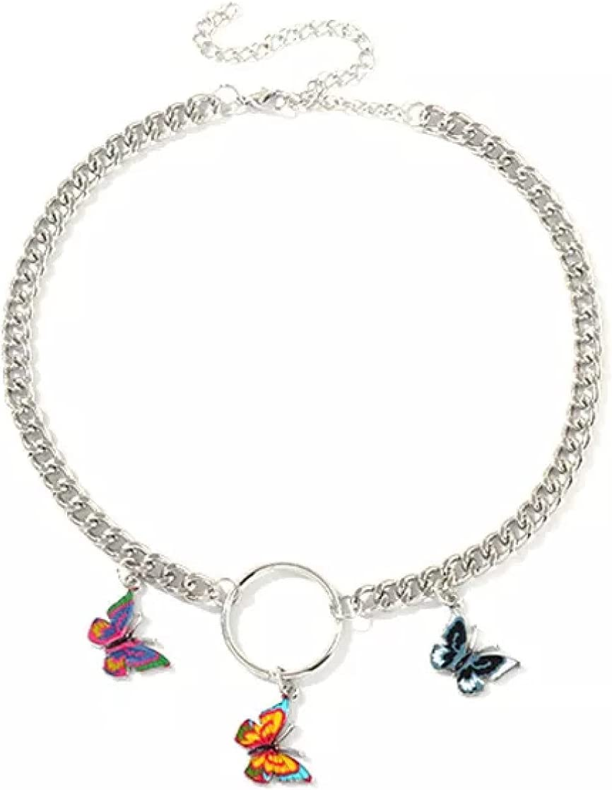 Necklace Style Butterfly Choker Necklace Jewelry Women Collares Hip Hop Gift Necklace Collares