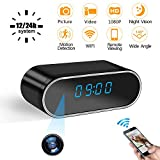 Hidden Camera Clock LXMIMI Spy Camera WiFi 1080P Wireless Security Camera with Automatic Night Vision, Motion Detection, Real-time Video for Indoor Home