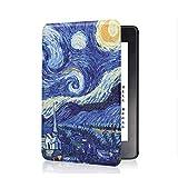 FANSONG Funda para Kindle Voyage, Delgado Cubierta de Cuero con Función Automática de Sueño/Estela para Kindle Voyage 6 Pulgadas 2014