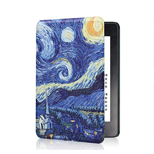 Kindle E-reader Voyage Smart Cover,FANSONG Thin Slim Fit Lightweight PU Leather Case Cover [Auto Wake/Sleep Function] for Amazon Kindle E-reader Voyage -#10