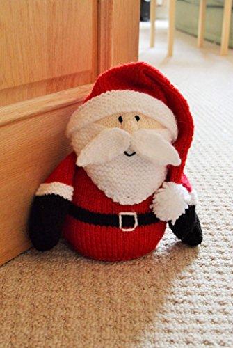 Knitting Pattern for a Santa Doorstop