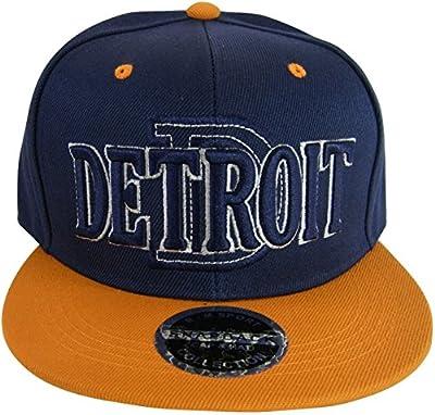 Detroit D Wave Style Men's Adjustable Snapback Baseball Caps