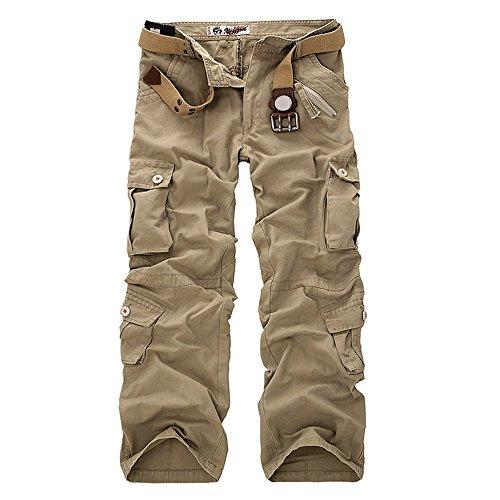 Mieuid heren lange cargobroek vintage camouflage werkbroek outdoor chic vrijetijdsbroek sweatpants chino stof broek jogging pants zonder