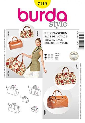 Burda Schnittmuster 7119–Travel Bags Größen: One Size