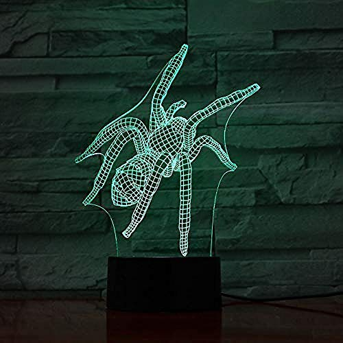 3D Night Light Led Animal Spider 3D Lamp Touch Sensor Flycatcher Decorative Lamp Child Kids Baby Kit Nightlight