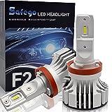 H11 LED Faro Bombillas Kit - Safego 72W H8 H9 LED Chips 6000LM LED Coche Kit de Conversión...