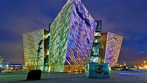 XIAOXINGXING Puzzle 1000 einzelteile lernspielzeug puzzlespiele Spielzeug Fragment des Irish Titanic Museum, Belfast Erwachsene Kinder geschicklichkeitsspiel Puzzle unmögliche sehr