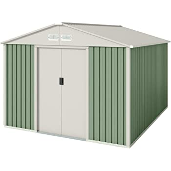 GARDIUN KIS12962 - Caseta Metálica Bristol 7, 74 m² Exterior 241x321x205 cm Acero Galvanizado Gris Antracita: Amazon.es: Jardín