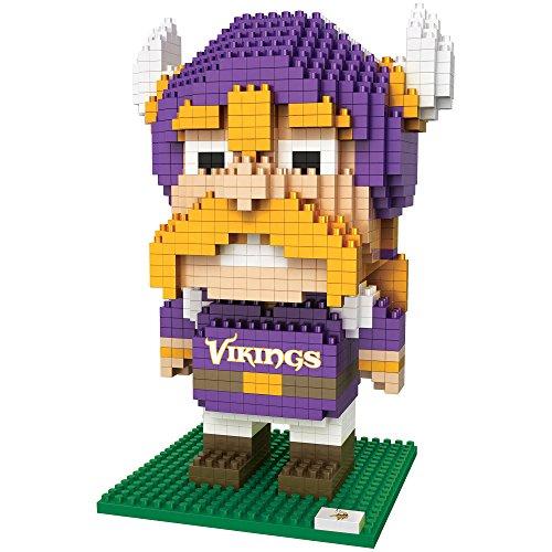FOCO NFL Minnesota Vikings BRXLZ 3D Blocks Set - MascotBRXLZ 3D Blocks Set - Mascot, Team Color, One Size
