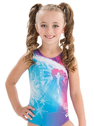 GK Disney Anna & Elsa Frozen Gymnastics Leotard for Girls (Blue, CM)