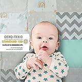 Mammacita Krabbeldecke für Baby groß: 120 x 120 cm gepolsterte OEKO-TEX 100 Krabbelmatte für Baby - Antirutsch Baby Spieldecke für Boden - hautfreundliche Baby Spielmatte - Baby Decken Baumwolle