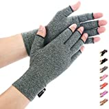 Arthritis Gloves by Duerer, Compression Gloves for RSI, Carpal Tunnel, Rheumatiod, Tendonitis, Fingerless Hand Thumb, Small Medium Large XL for Pain Relief Women Men(Gray, Medium)